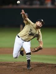 Vanderbilt junior right-hander Matt Ruppenthal delivers