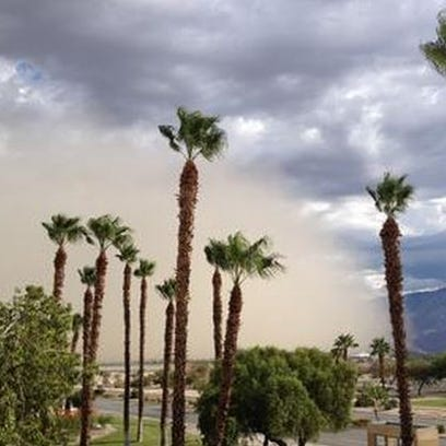 A dust storm moves through Palm Springs on Sept. 6,