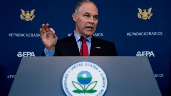 Environmental Protection Agency Administrator Scott