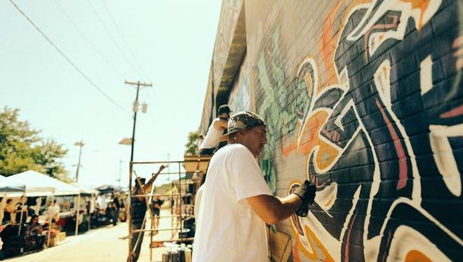 Graffiti artist Jerms