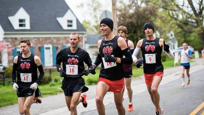 Bergen elite runners at the 2016 Lilac 10K, from left, Greg Selke, Dave Rappleyea, Josh Guarino and Nick Guarino.