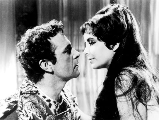 Richard Burton and Elizabeth Taylor in a promotional