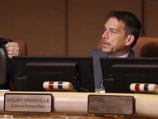 Tempe Councilman Kolby Granville speaks during a City