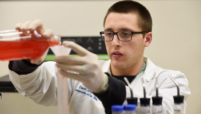 Detroit Lions running back Zach Zenner is working on a study in the Hypertension and Vascular Research Department at Henry Ford Hospital.