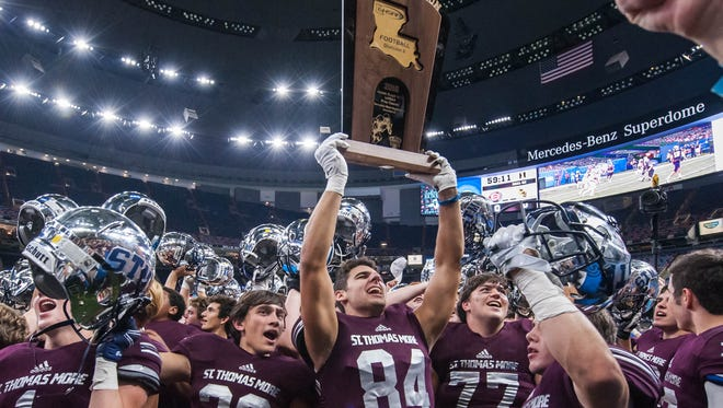 LHSAA Division II champions, the St.Thomas More Cougars defeated Parkview Baptist on Friday in the Mercedes-Benz Super Dome