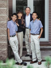 The Wu family. Sean Wu, who died Saturday, is on the