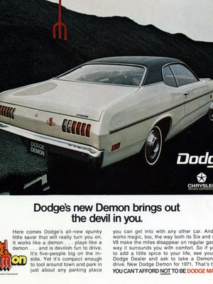 The Demon originally was a two-door fastback hardtop variant of the 1971-72 Dodge Dart. The 2018 Dodge Challenger SRT Demon is set to make its debut in April at the New York auto show.