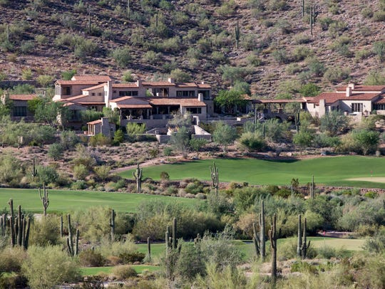 Homes in the Silverleaf gated community.