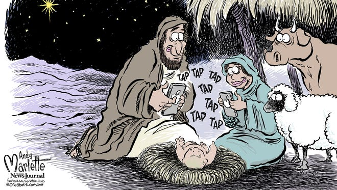 Facebook Christmas commentary from Andy Marlette