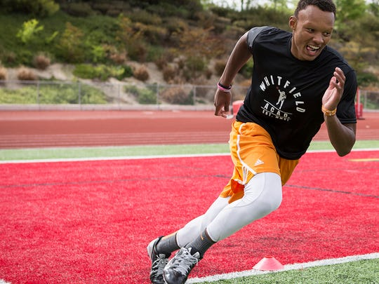 Former Tennessee quarterback Joshua Dobbs trained with George Whitfield in San Diego in 2014.