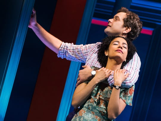 "Joshua Jackson and Lauren Ridloff in ""Children of a Lesser God"" on Broadway."