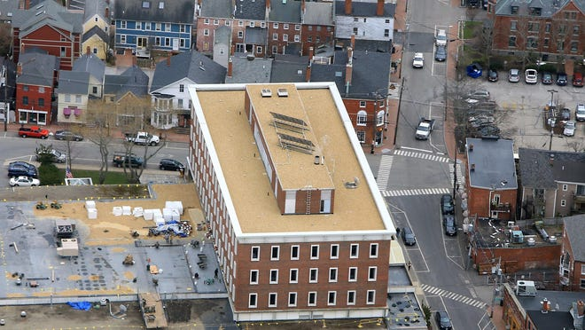 An aerial view of the McIntyre Federal Building property.