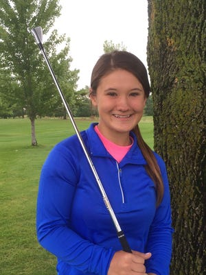 Denmark senior Leah Hansen is aiming to advance to the WIAA Division 2 state girls golf meet for the first time this season.