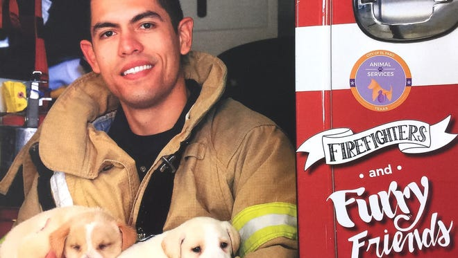 "People can buy a ""Firefighters and Furry Friends"" calendar for $15 and get a voucher for a free pet adoption."
