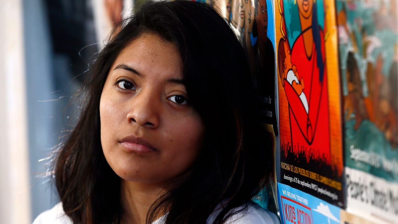 Cinthia Osorio of Dover at the offices of Wind of the Spirit Immigrant Resource Center in Morristown. The 22-year-old is a DACA recipient who has been outspoken about needed legislation to give a path to citizenship for other DACA recipients.