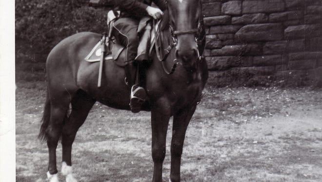 Robert Frankel patrolled the Broadway theater district on horseback.