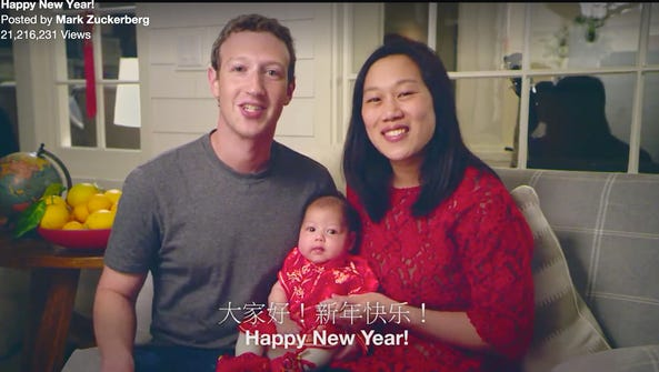 A video posted on Facebook by co-founder Mark Zuckerberg