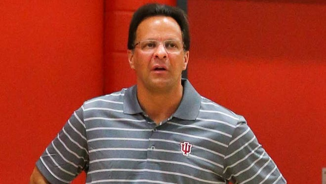 IU coach Tom Crean (pictured) said Tuesday night that Jeremiah April's ankle injury will be reevaluated when the Hoosiers return to Bloomington.