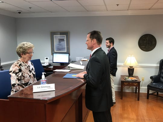 Lt. Gov. Kevin Bryant files to run for governor of South Carolina Tuesday in Columbia.