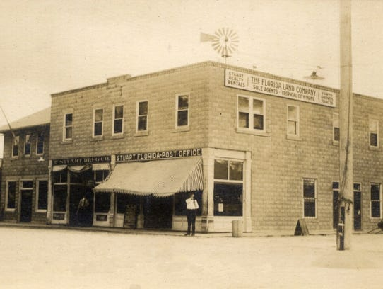 Stuart Drug Store (left side) and later had the full