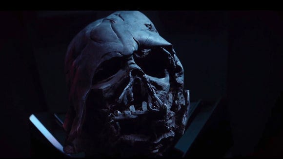 That' either Darth Vader's skull, or he started an
