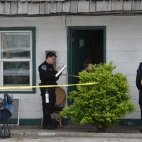 Sparks police investigate at the Campion Motel in Sparks where a dead body was found on May 3, 2016.