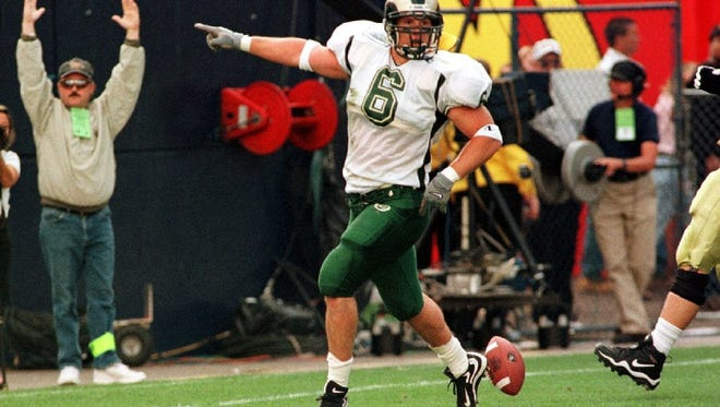 Linebacker Rick Crowell was named the Mountain West defensive Player of the Year in 2000.