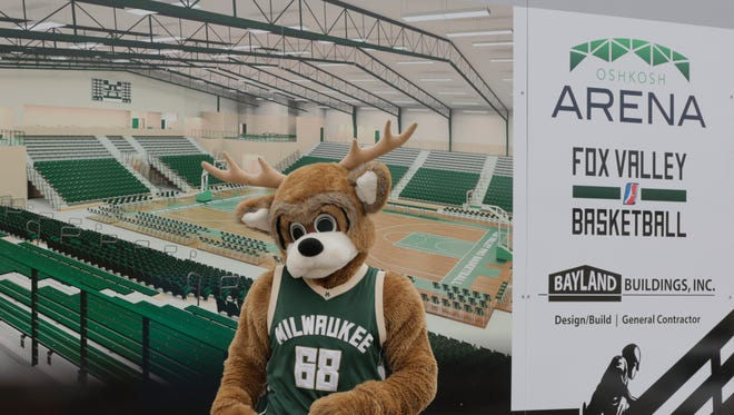 Bango was on hand at the  ground-breaking ceremony.  The $17 million, Oshkosh Arena held their ground-breaking ceremony, March 29, 2017 on the former Buckstaff site.  The Arena will host the Milwaukee Bucks minor league team.  The building will be open in the fall of 2017.Joe Sienkiewicz / USA TODAY NETWORK-Wisconsin