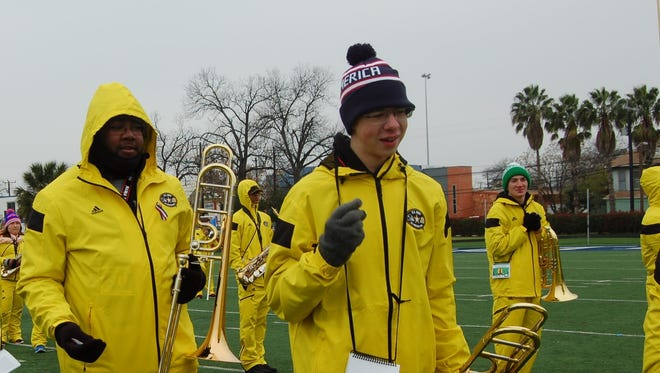 West Henderson band member William Hinchliffe, right.