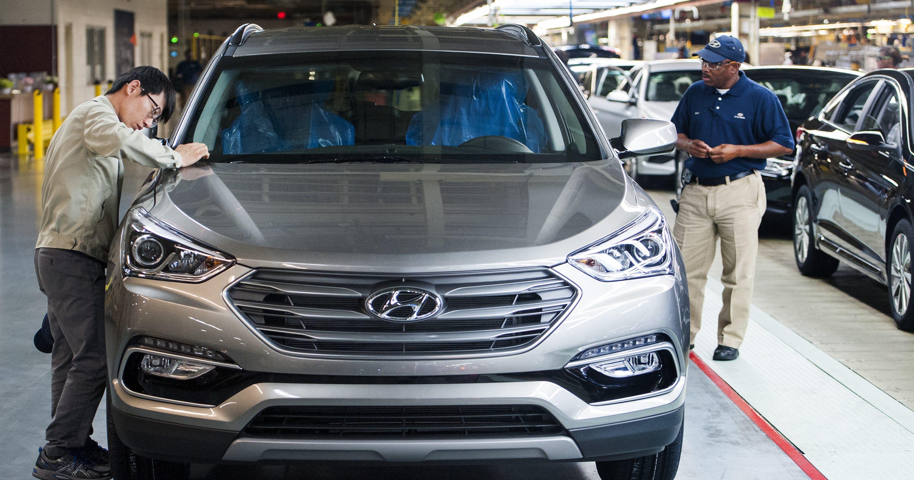 Bill Hood Hyundai >> Hyundai recalls 600K vehicles to fix hood latches, warning ...