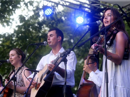 Flatt Lonesome takes the stage during the 39th Annual