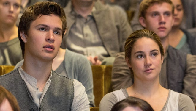 """Ansel Elgort and Shailene Woodley star as siblings in the dystopian drama """"Divergent."""""""