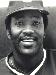 Joe Carter while with the Iowa Cubs in 1984.