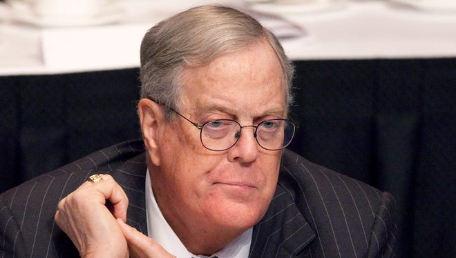 David Koch, executive vice president of Koch Industries, attends a meeting of  the Economic Club of New York in April 2011.