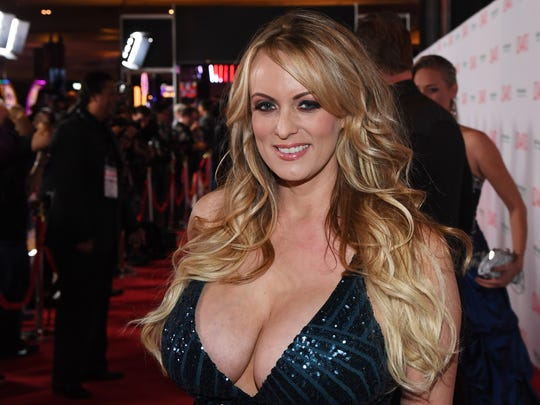 Stormy Daniels attends the 2018 Adult Video News Awards on Jan. 27, 2018, in Las Vegas.