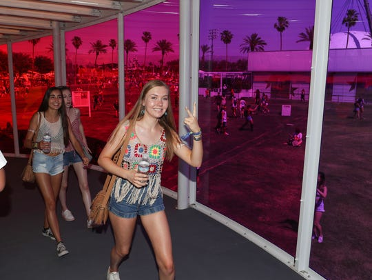 Apr 13, 2018; Indio, CA, USA; Music fans walk inside