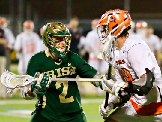 Central York vs York Catholic during boys' lacrosse