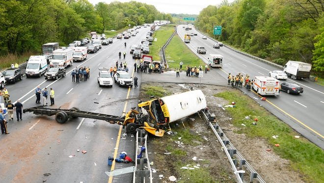 """First responder Fred Detoro on the Paramus bus crash: """"There were people crying, some screaming, and other people in shock not saying anything."""""""