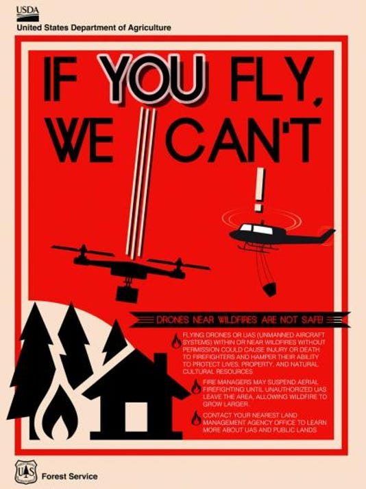 Drone safety poster