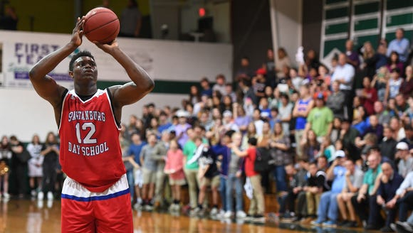 Spartanburg Day School senior Zion Williamson, shown