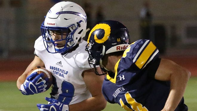 Brookfield Central running back Zach Heckman ran for 239 yards and two touchdowns, including a 60-yard score that fueled a game-winning rally.