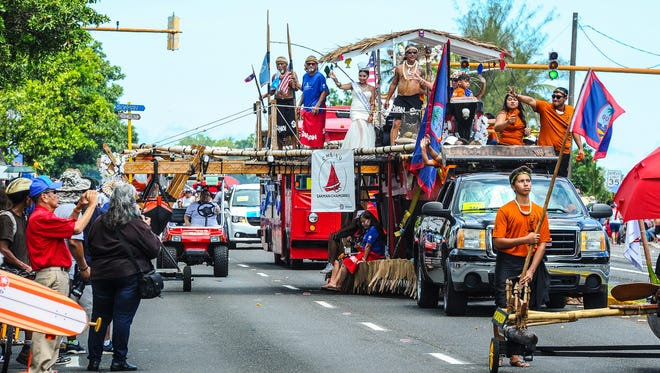 "In this file photo, the 72nd Liberation Day Parade was held on Marine Corps Drive in Hagåtña, from Adelup Point to the Paseo Loop intersection, on July 21, 2016. The theme was ""Hatsa, The Revitalization of Our People and Our Land."""