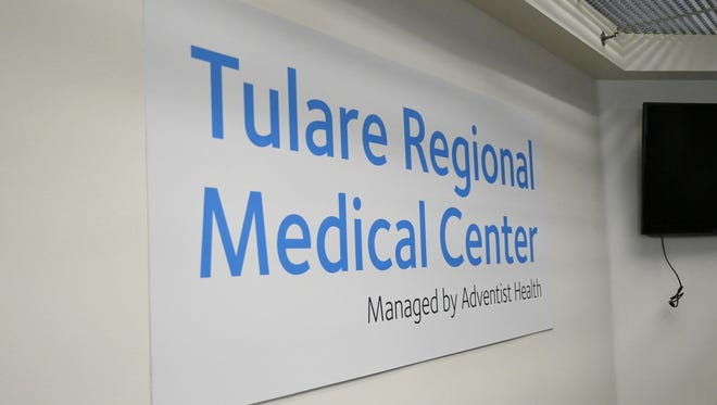 Staff, administrators and community members gather for the grand re-opening of Tulare Regional Medical Center on Monday, October 15, 2018. The hospital, now managed by Adventist Health, closed last October.