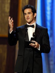 Andy Blankenbuehler accepts the award for best choreography