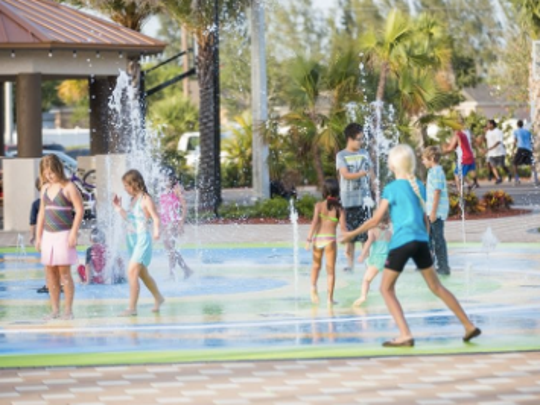Fellowship Park splash pad is open from dawn to dusk daily.