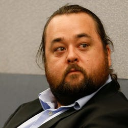 Austin Lee Russell, better known as Chumlee from the TV series 'Pawn Stars,' in court May 23, 2016, in Las Vegas.