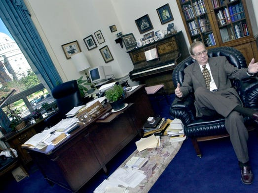 In his US capital office in November 2000, Bill Goodling