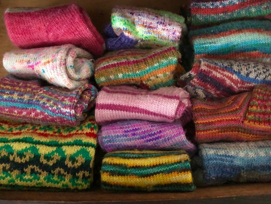 Ency Austin's sock drawer features a colorful selection