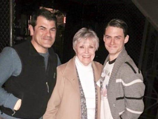 Diane Frankel, flanked by Coupe Theatre Studio alumni,