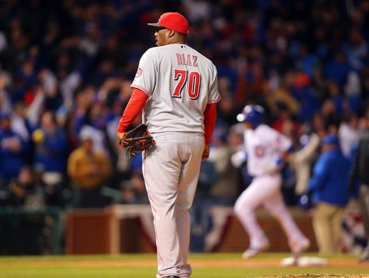 MLB: Cincinnati Reds at Chicago Cubs